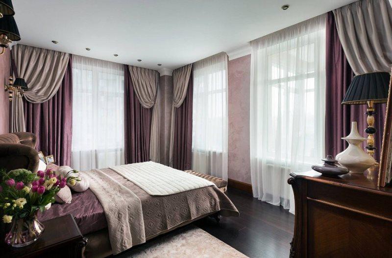 бардовая спальня