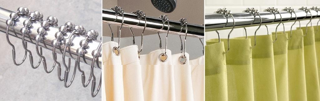 декоративные крючки для занавесок в ванной