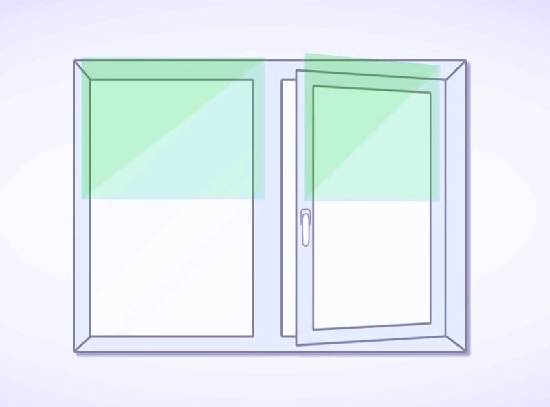 на створку окна