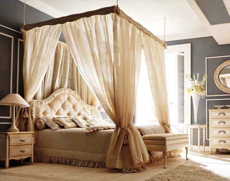 шторы над кроватью