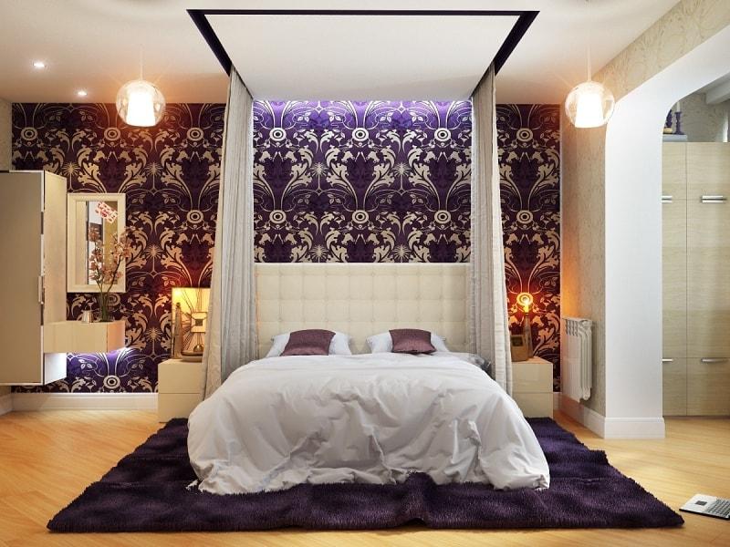 современный навес над кроватью