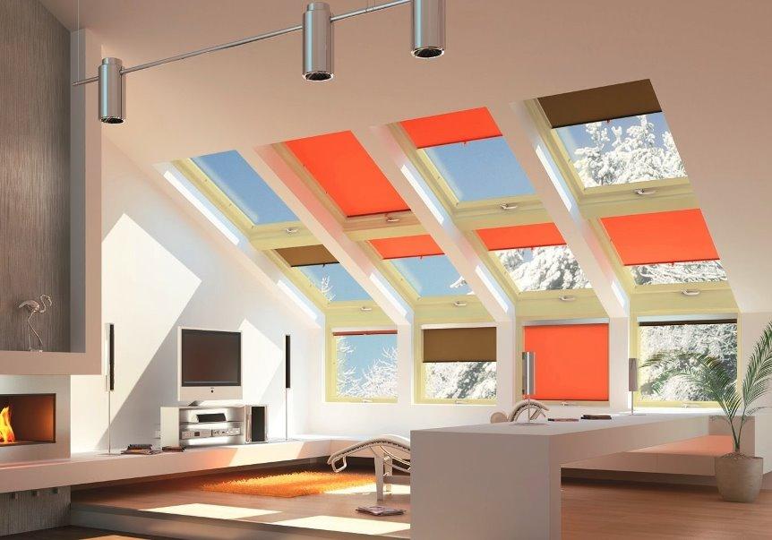 рулонки на потолочные окна