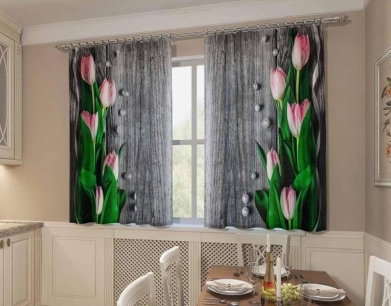 фотошторы с тюльпанами