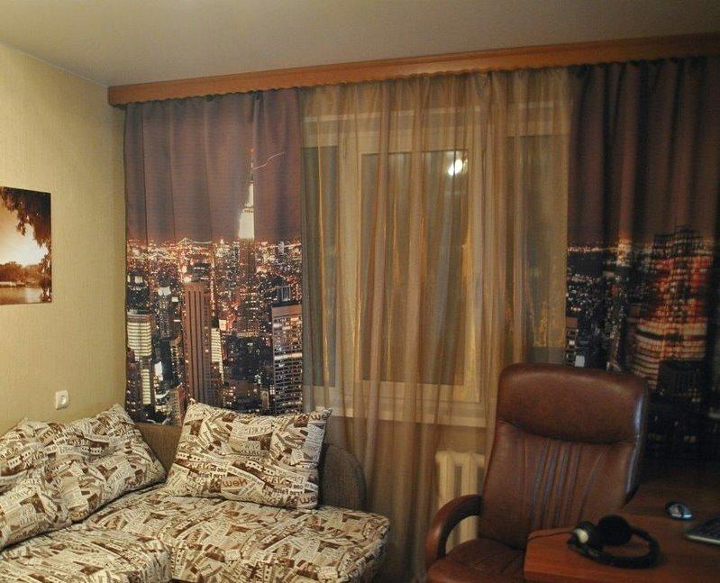 фотошторы с видом на нью-йорк