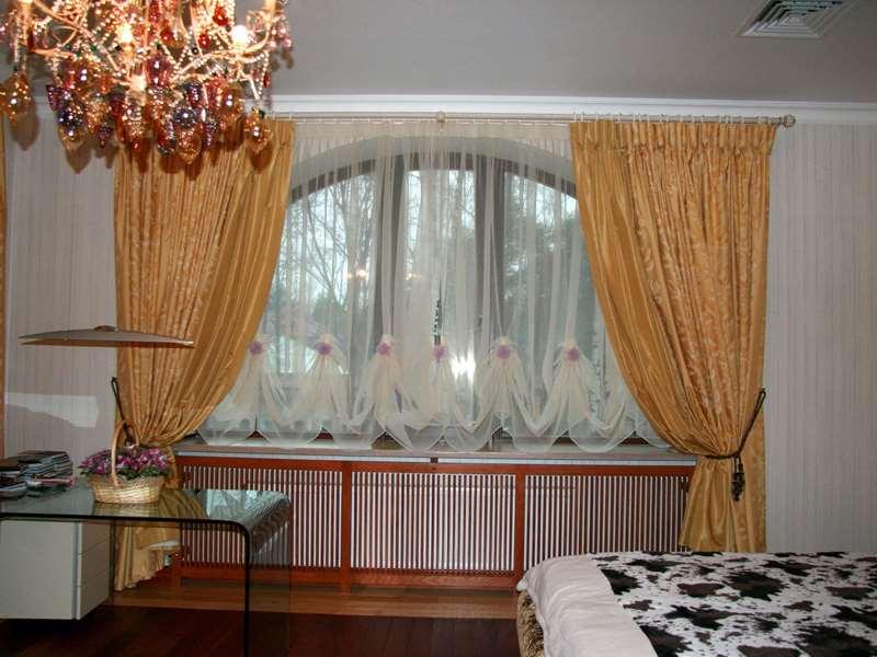 австрийские шторы из тюля