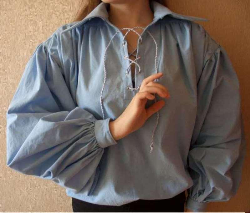 блуза с подобным рукавом