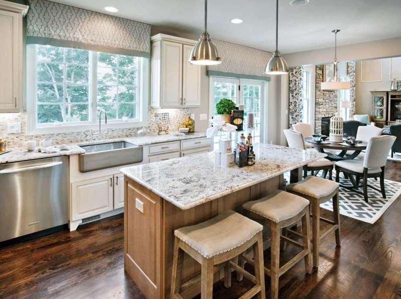 подъемные шторы на кухне