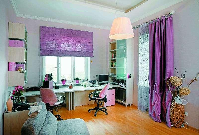 пример оформления комнаты для девочки подростка