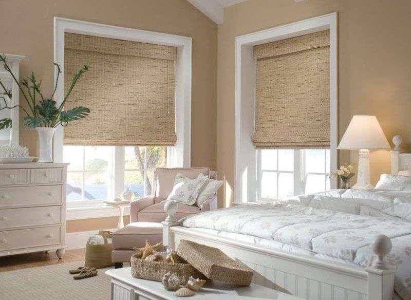 римские занавески из бамбуковой соломки