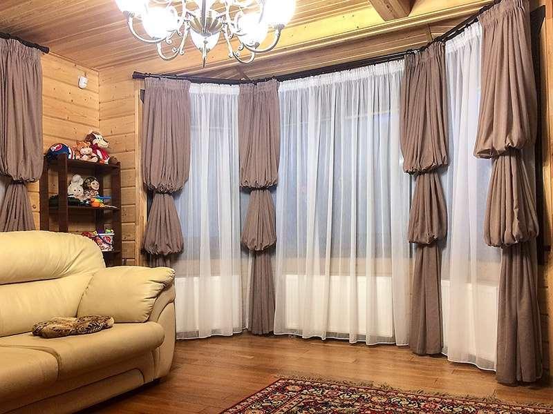 шторы с двумя буфами