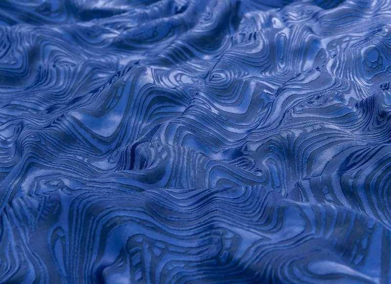 синий муар