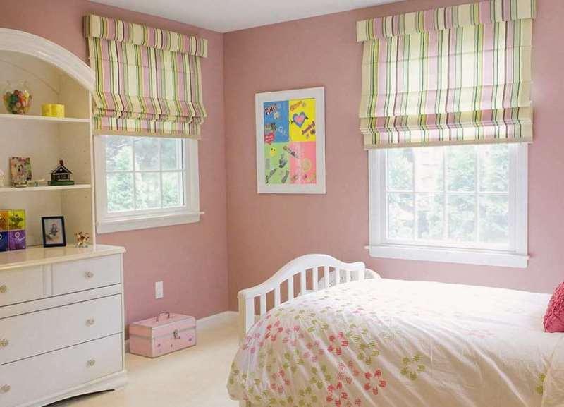 сочетание цветов для комнаты девочки