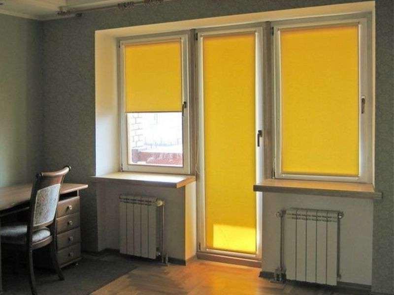 вариант для окна с балконной дверью