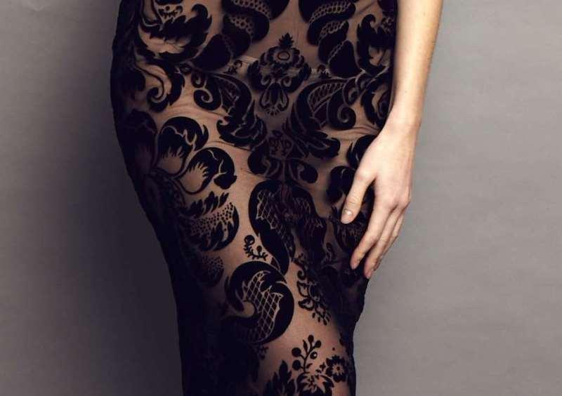 вечернее платье с применением технологии