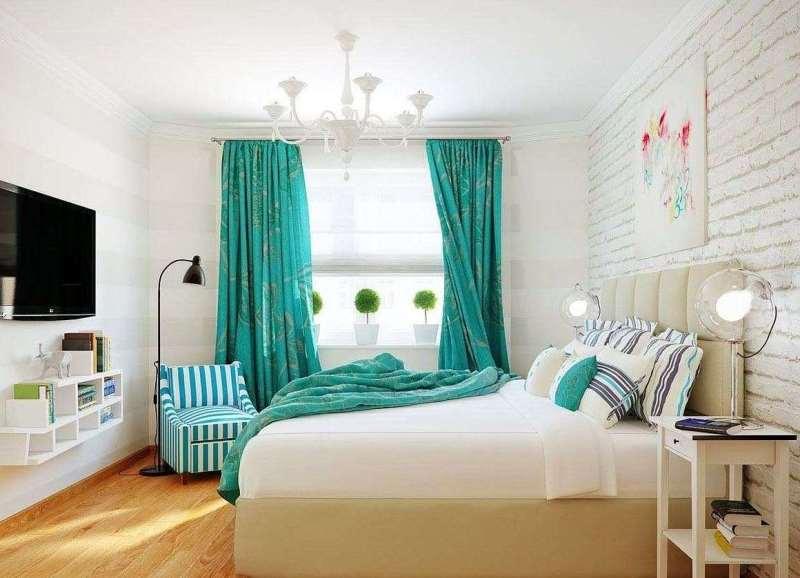 бирюзовый цвет отлично подойдет для комнаты в скандинавском стиле