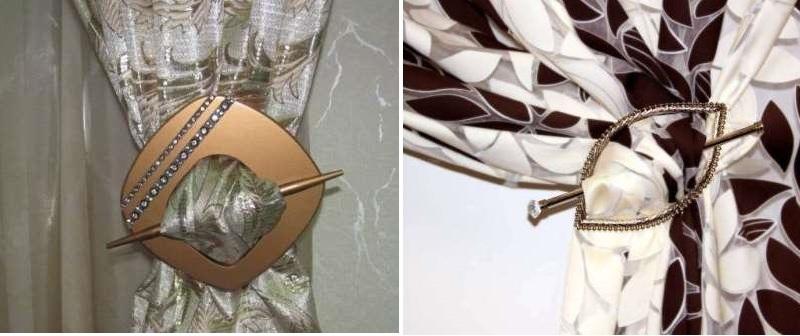 металлические выполненные в виде заколки