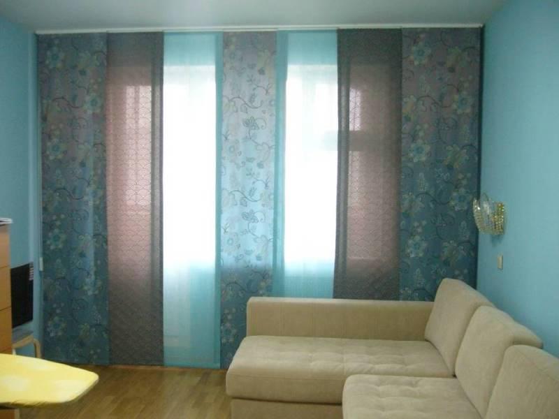 многослойная композиция с японскими шторами