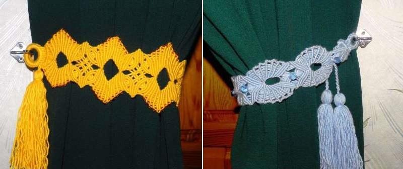 сделанные узелковым плетением