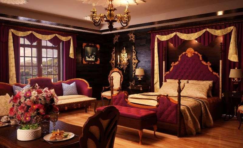 спальня в королевском стиле
