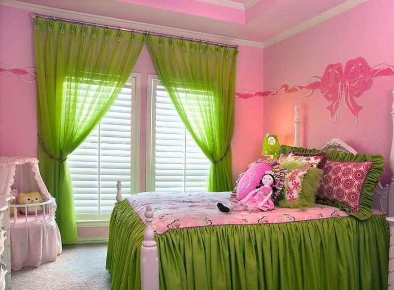в спальне для девочки