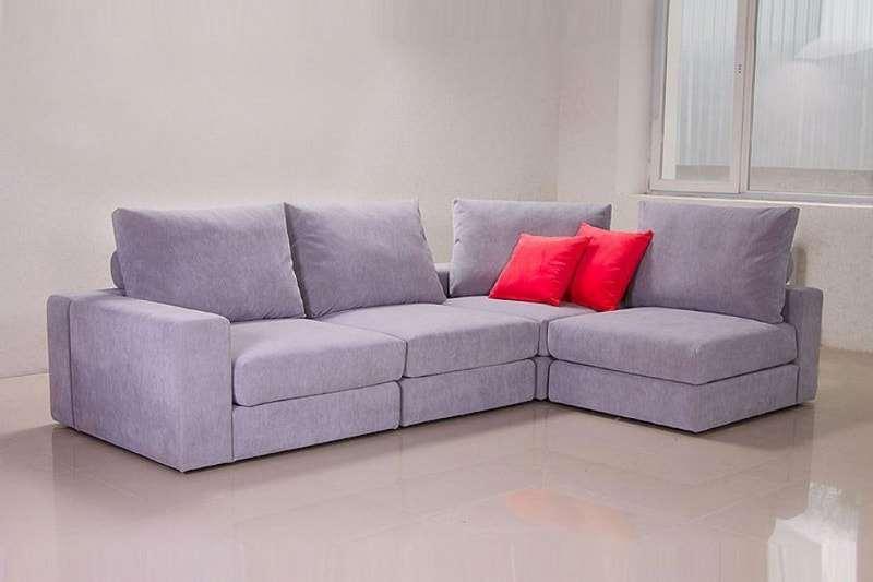 диван обитый флоком