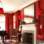 красные шторы в интерьере стильной квартиры