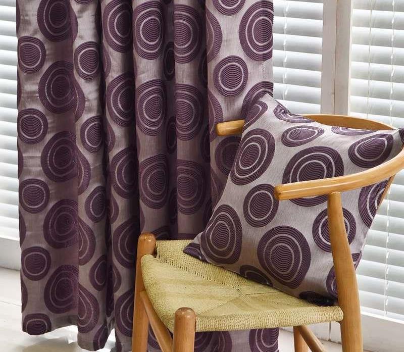 шторы и подушка из флока