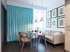 Советы по использованию голубых штор в интерьере с примерами на фото