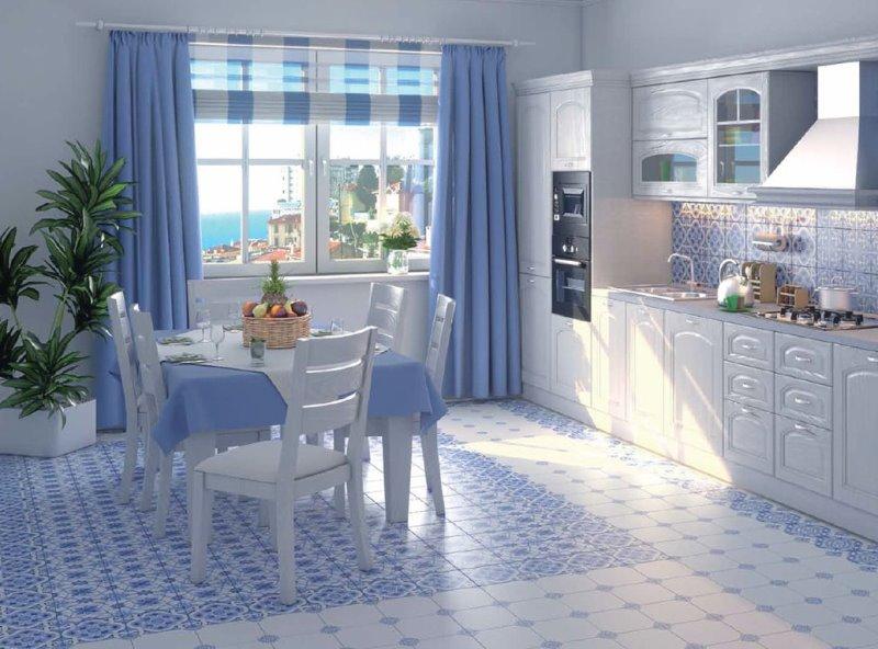 кухня в едином цвете