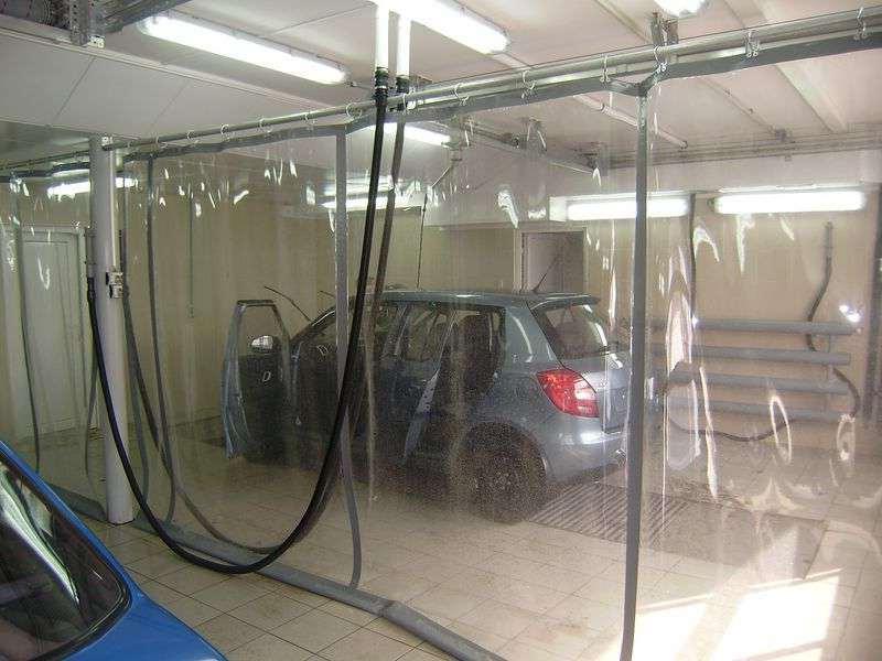 прозрачные автомоечные шторы
