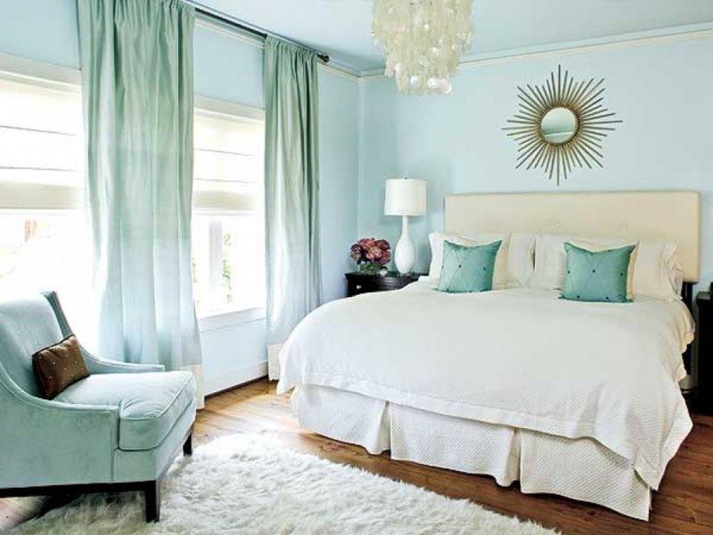 спальня в едином цветовом ансамбле