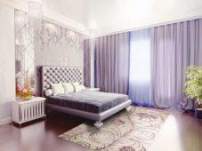 Сиреневые шторы в спальню, гостиную и на кухню