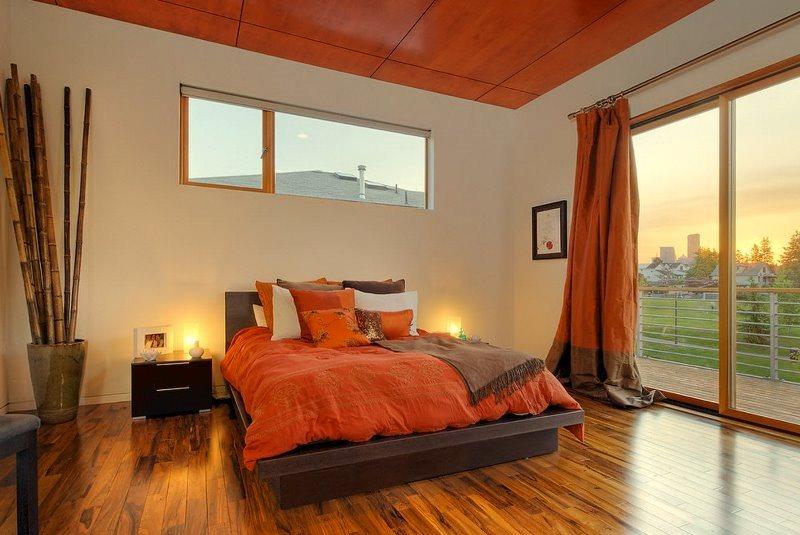 в спальне терракотовый цвет будет очень уместен