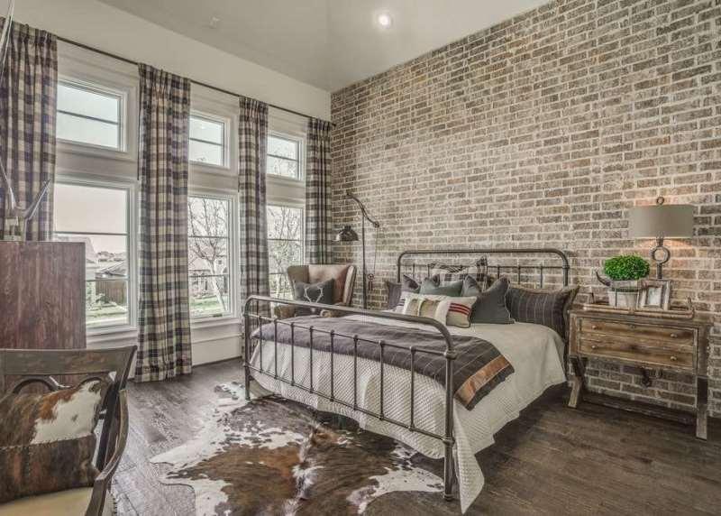 клеточные шторы в комнате в стиле урбан