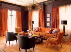 Как выбрать оранжевые шторы на кухню, в гостиную, спальню и детскую