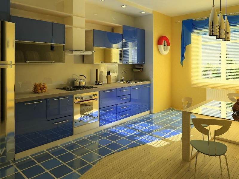синий и желтый - два цвета компаньона