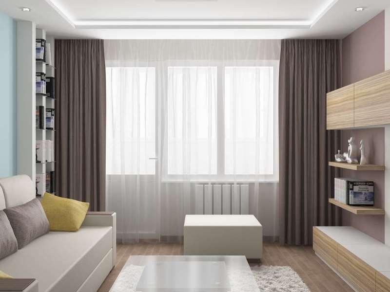 Шторы для маленькой комнаты в современной квартире