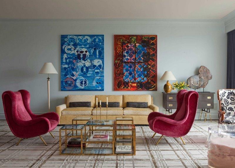 Мебель в авангардной гостиной