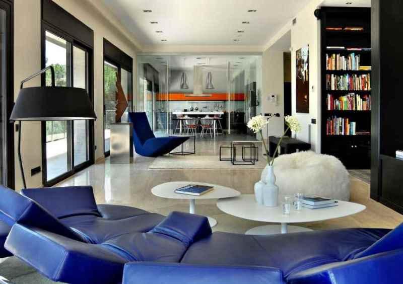 гостиная в стиле авангард