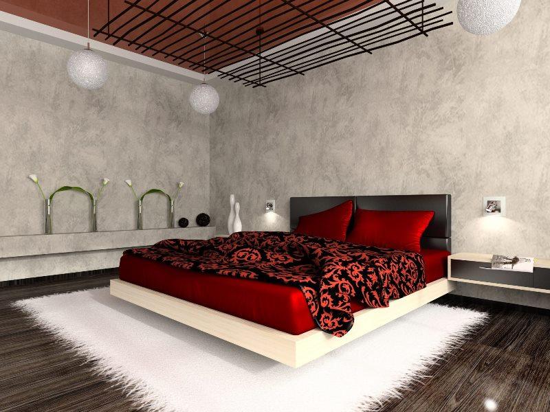центральное место спальни это кровать