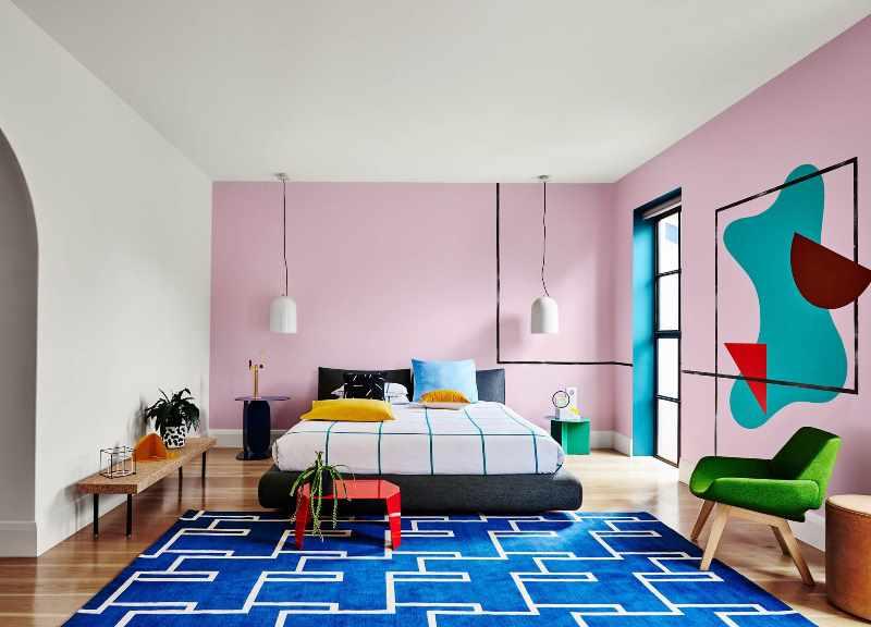 цветовая палитра при оформлении спальни в стиле авангард