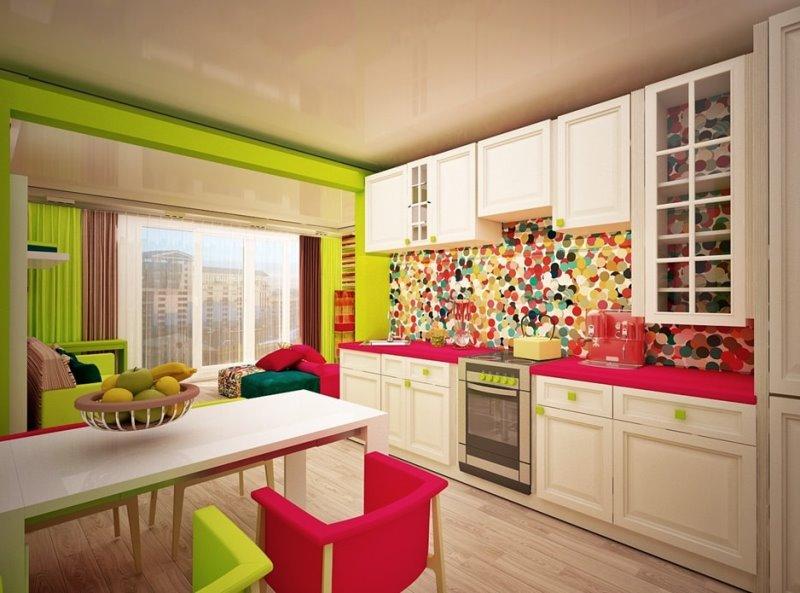 цветовые сочетания для кухни в авангардном стиле