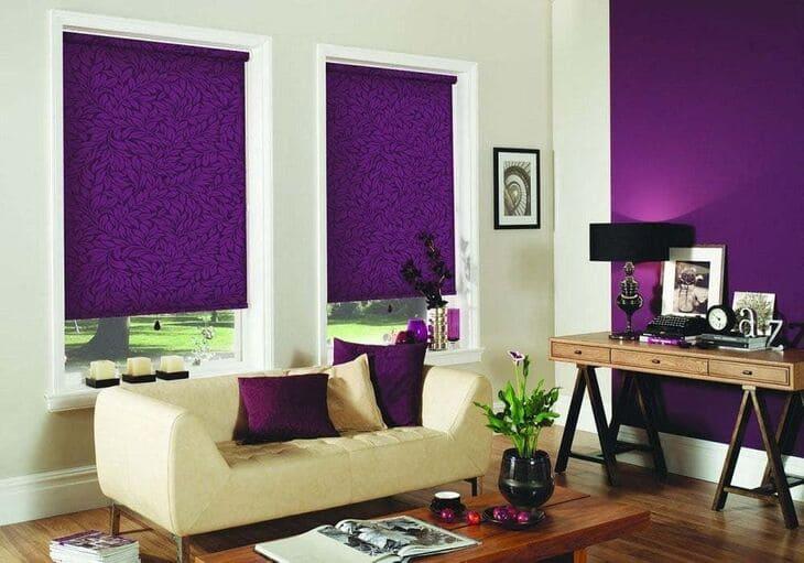 Ролеты фиолет