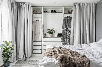 Как правильно подобрать шторы для шкафа вместо дверей