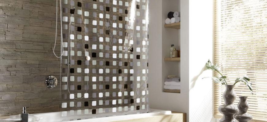 Какие бывают размеры штор для ванной