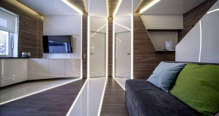 Алюминиевый профиль в дизайне интерьера